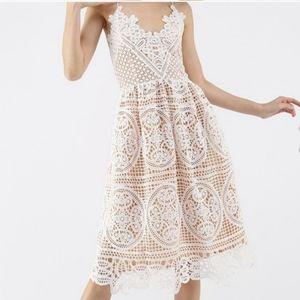 Chicwish Cross Back Crochet Dress